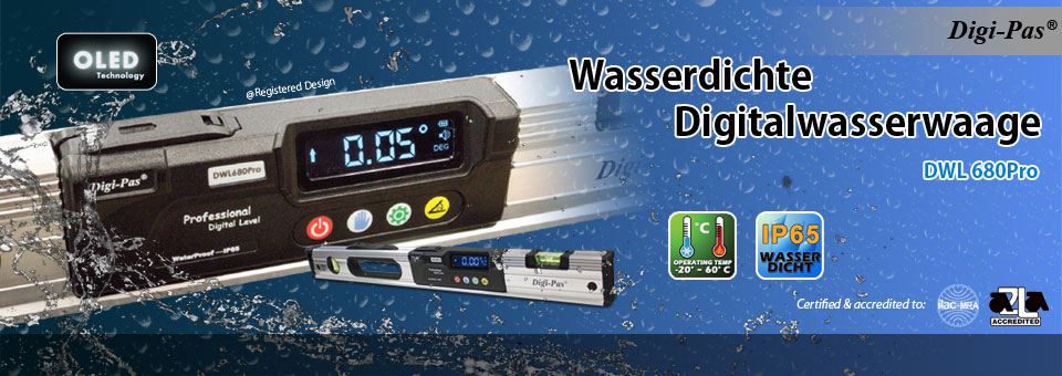 Waterproof Heavy Duty Digital Level - Model: DWL-680Pro